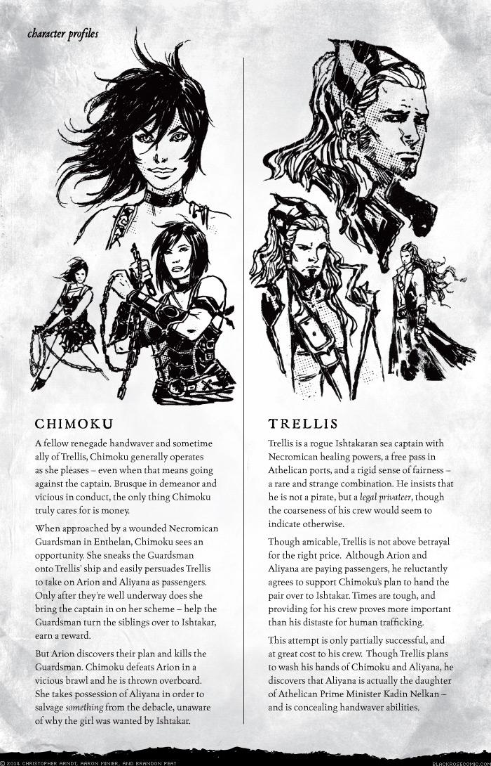Character Profiles: Chimoku and Trellis
